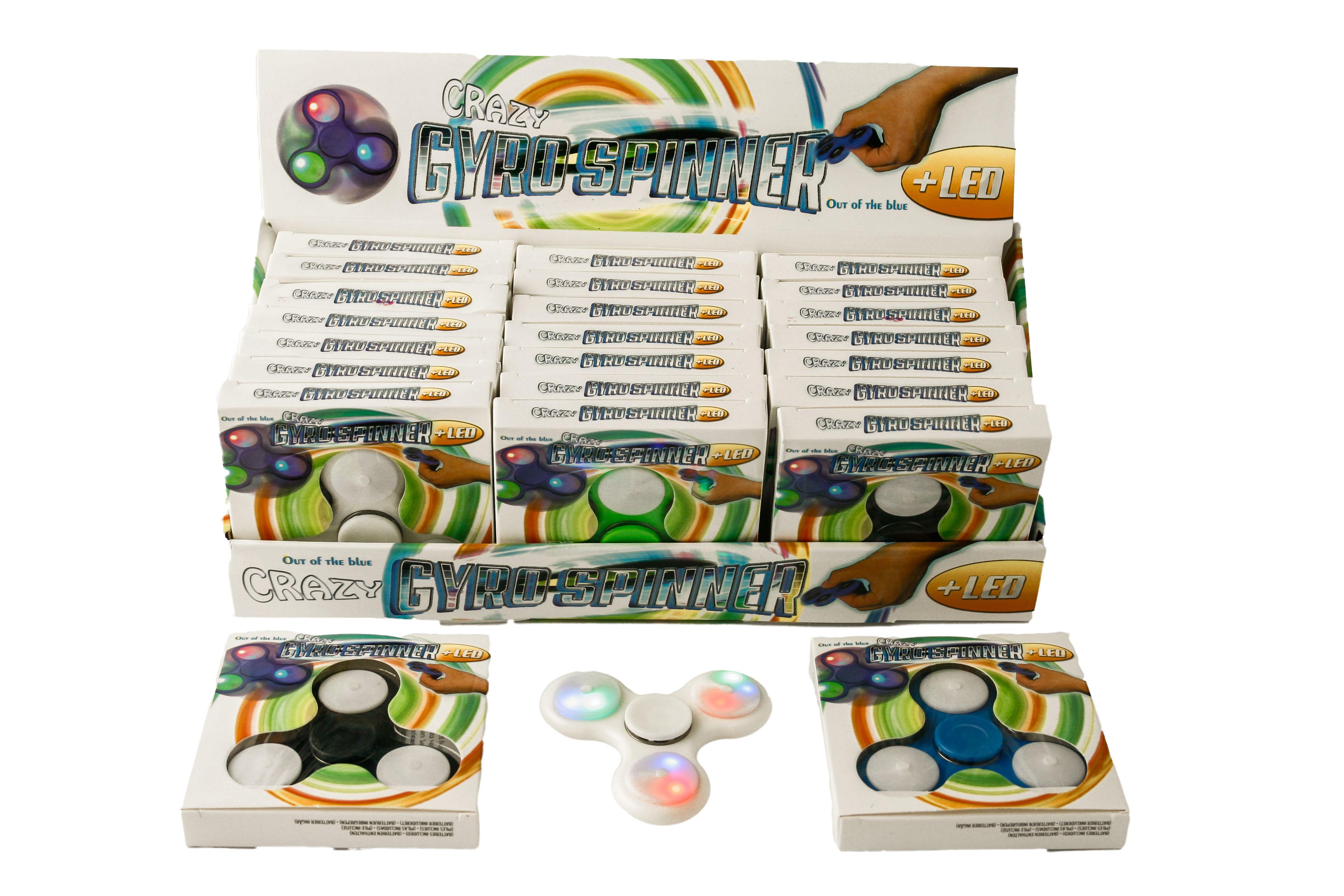 Hand Spinner con LED 6 colori assortiti