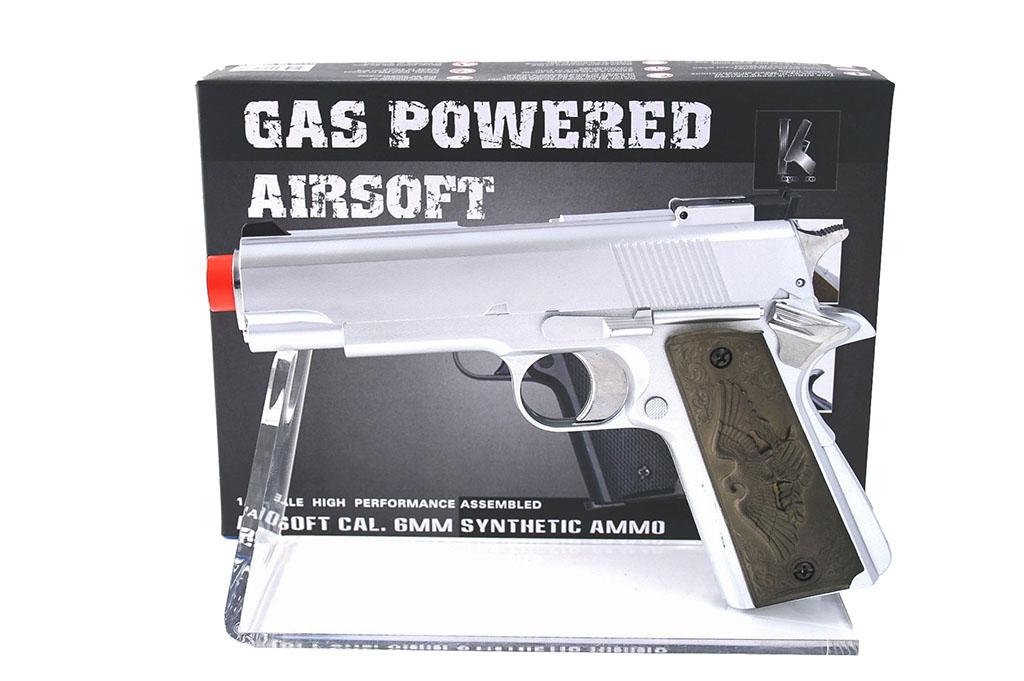 Pistola giocattolo gas M80 arg.