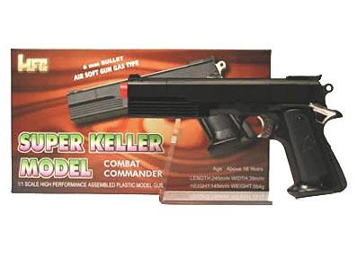 Pistola giocattolo gas combat nera