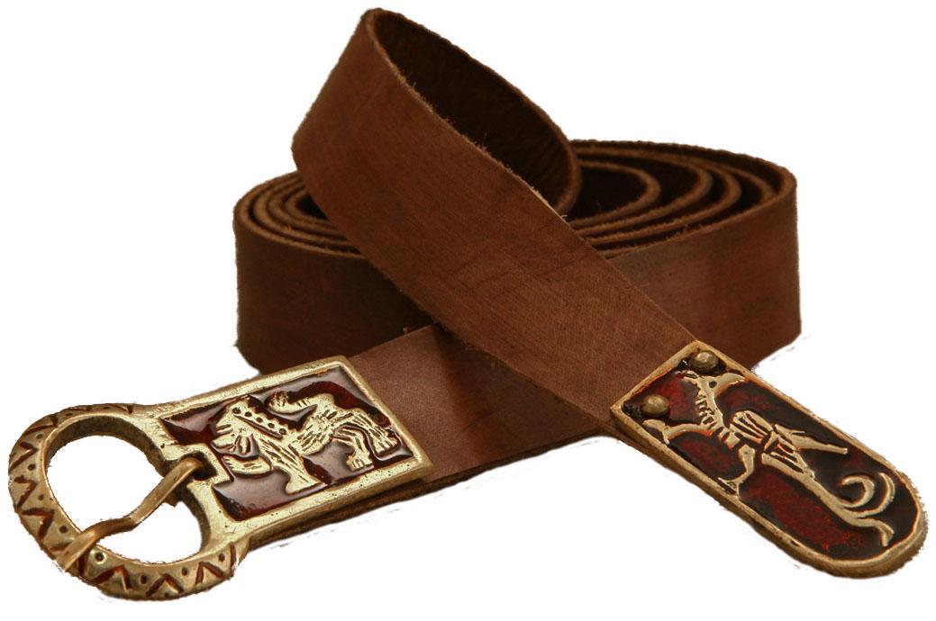 Cintura cuoio con particolari in ottone