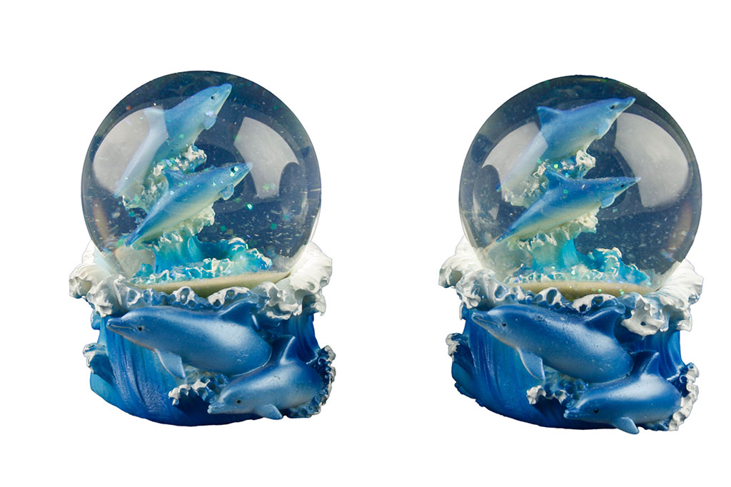 Delfino sfera vetro media