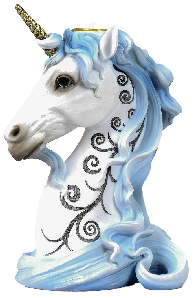 Unicorno porta candele H cm. 16