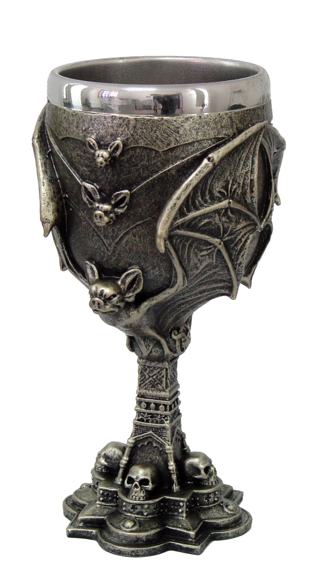 Drago con boccale con interno silver cm. 20x8