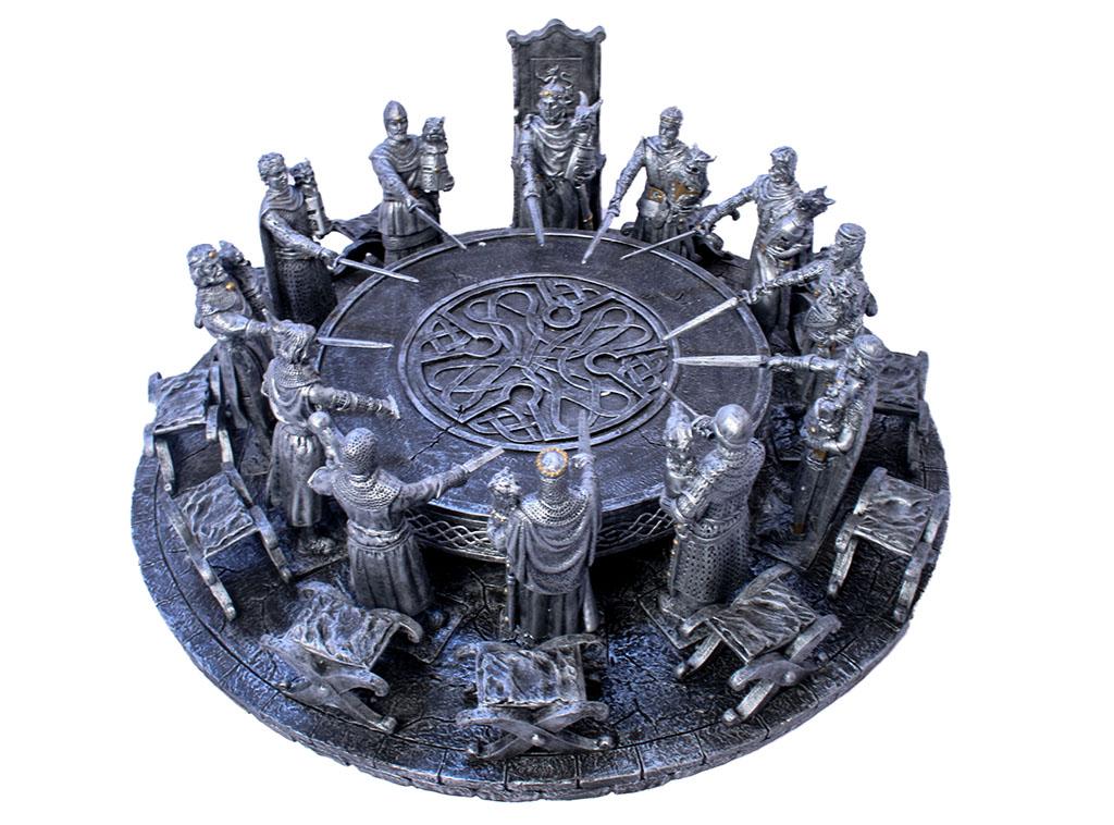 Medievali tavola rotonda grigia diametro 40x40