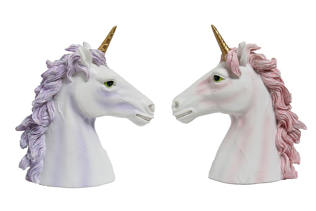Unicorni busto 2 ass.ti h cm. 12x11
