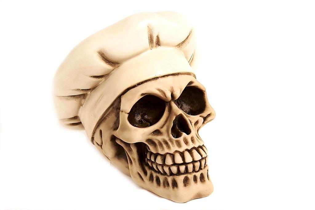 Teschio cappello cuoco H cm. 15x15