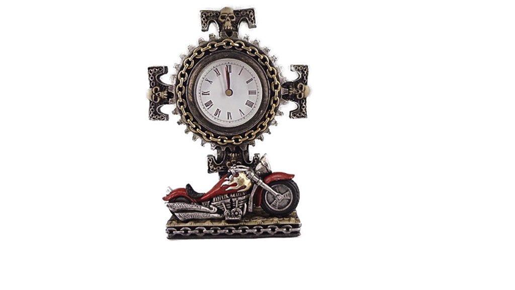 Teschio orologio con moto h cm. 20