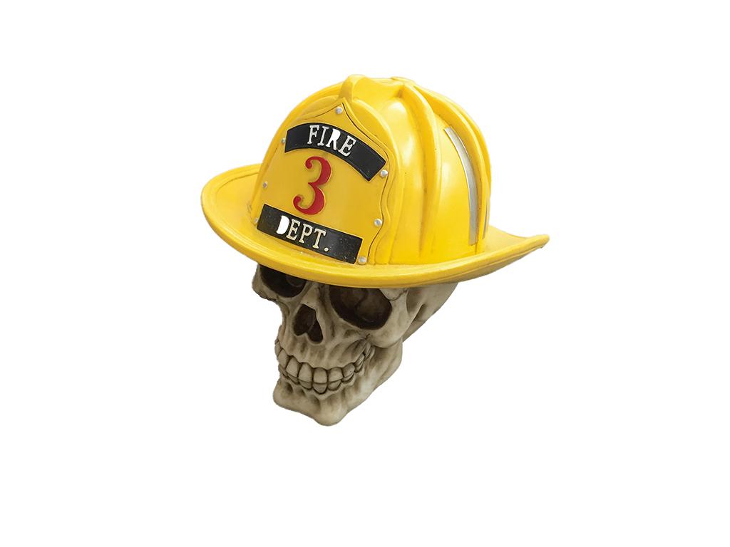 Teschio Casco Pompiere H cm. 18x30