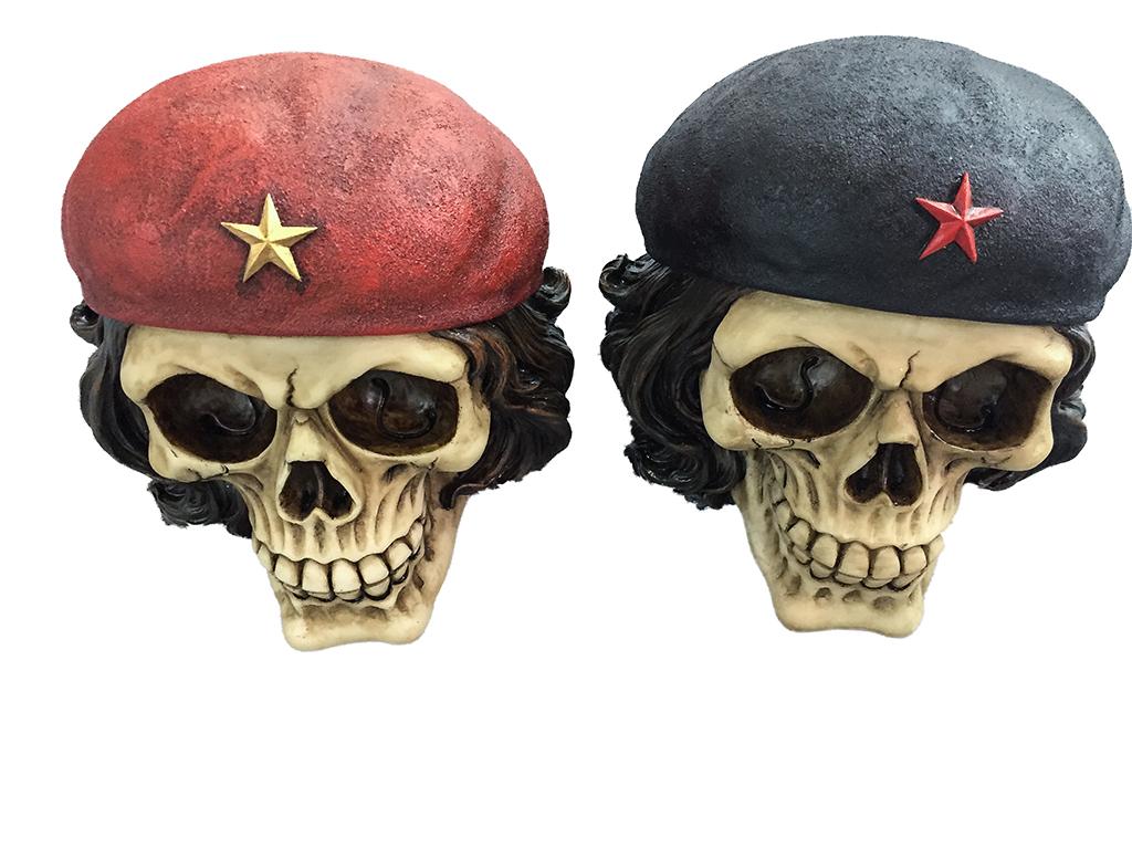 Teschio Che Guevara 2 colori  ass. H cm. 20x20