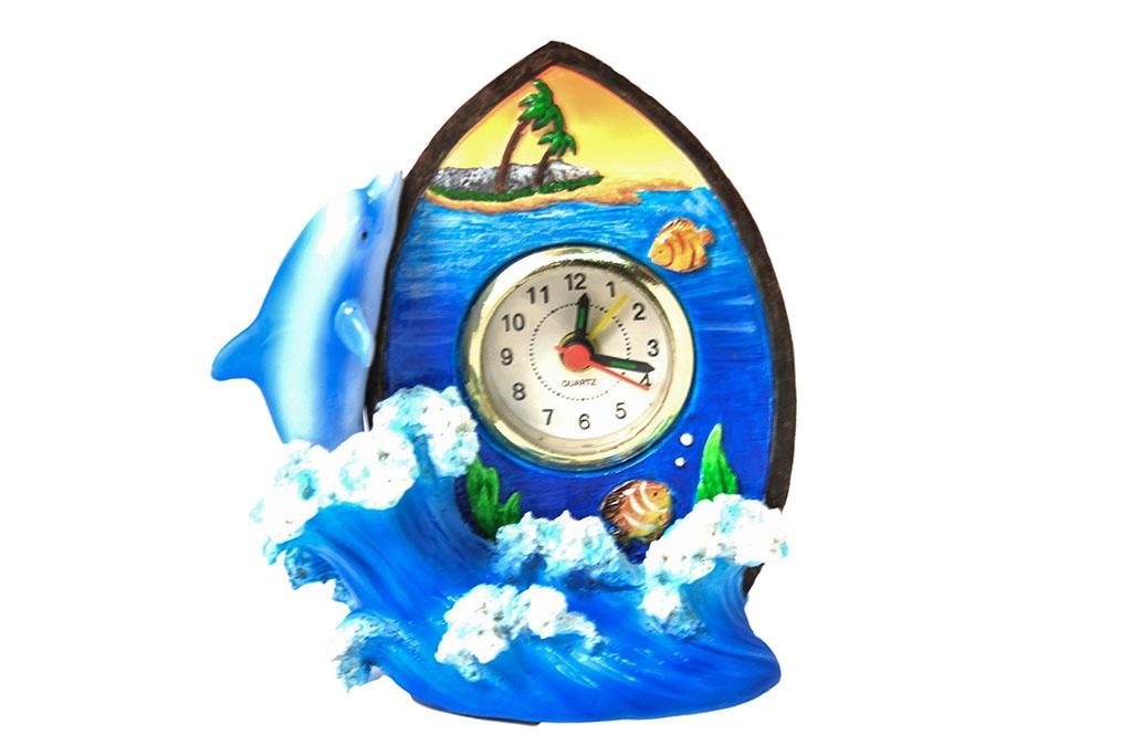 Delfino con orologio h cm. 13x11