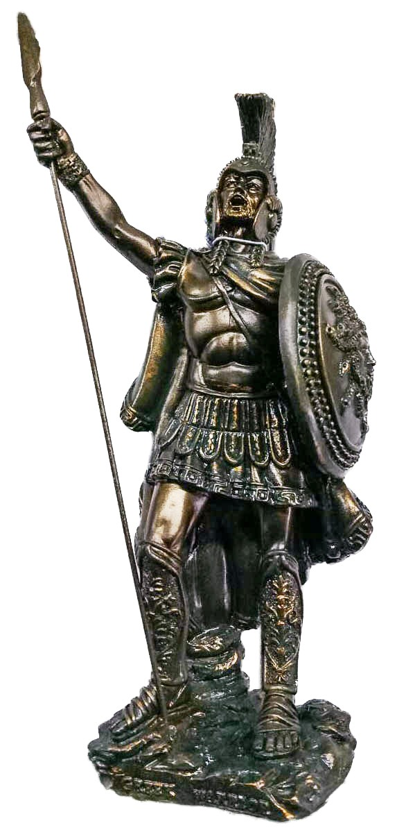Soldato Bronzo Antico Sparta Warriors H cm. 20