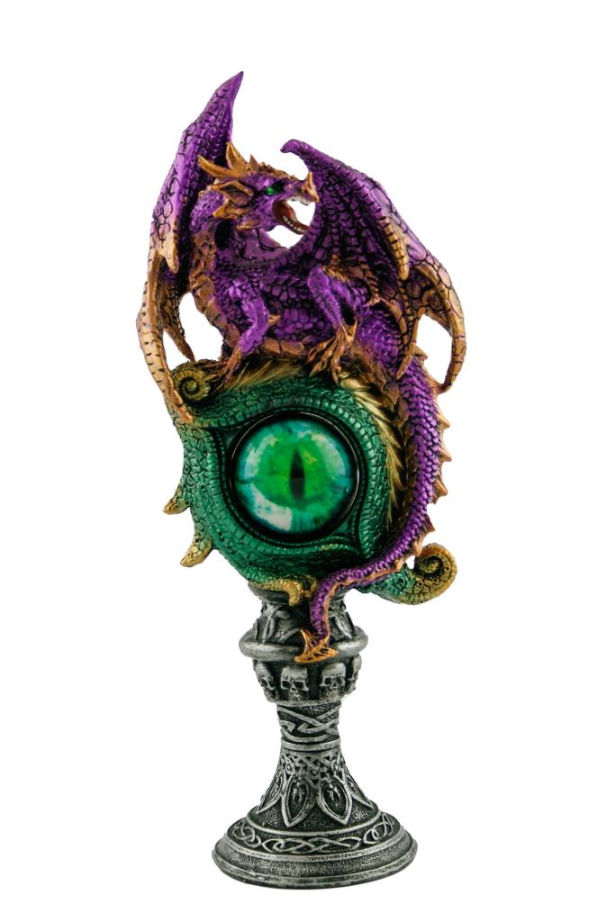 Drago resina colorato c/occhio cm. 25x15