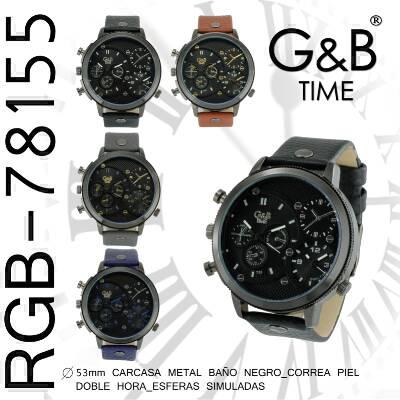 Orologio GB uomo pelle xl 2 crono reali