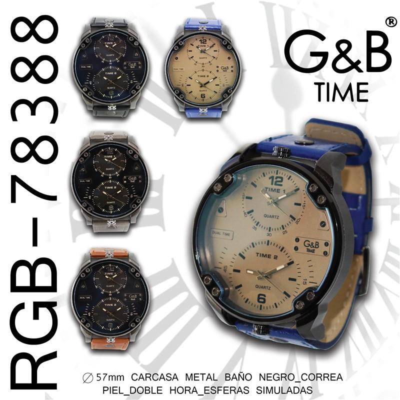 Orologio GB uomo pu/liso xl 2 crono reali