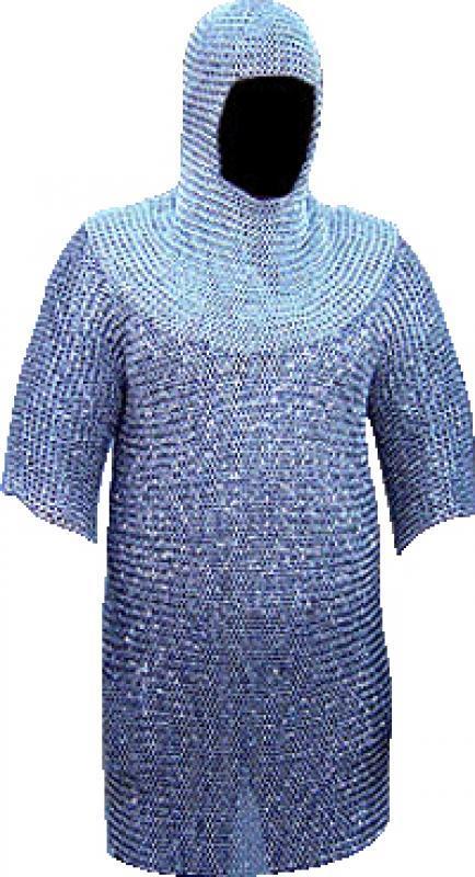 Completo maglia di cotta argento mm. 10 kg. 13,5
