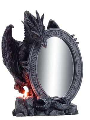 Drago con specchio ovale cm. 40  h
