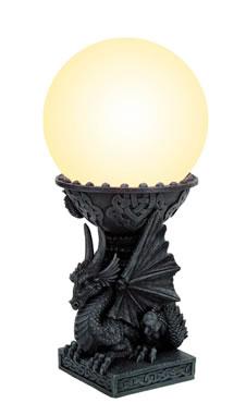 Drago colonna con lampada h cm. 35