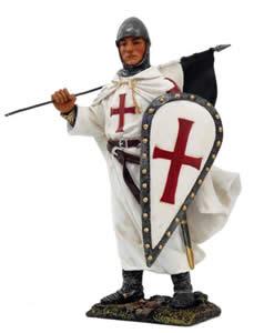 Medioevale crociato c/bandiera  cm.15