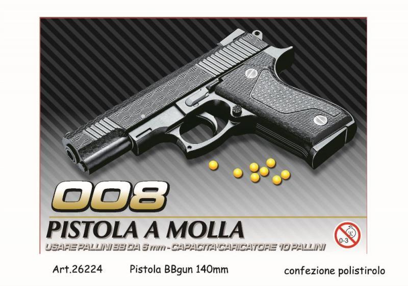 Pistola giocattolo a molla piccola 26224