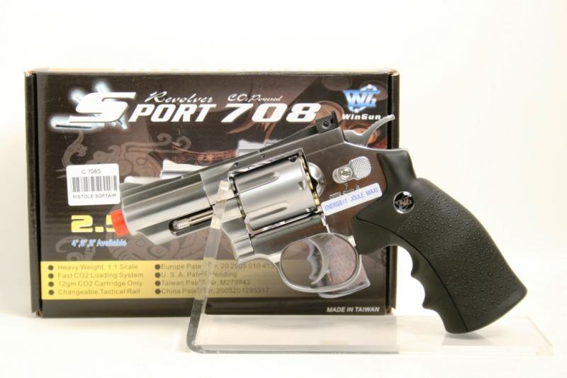 Pistola giocattolo softair CO2 cromata