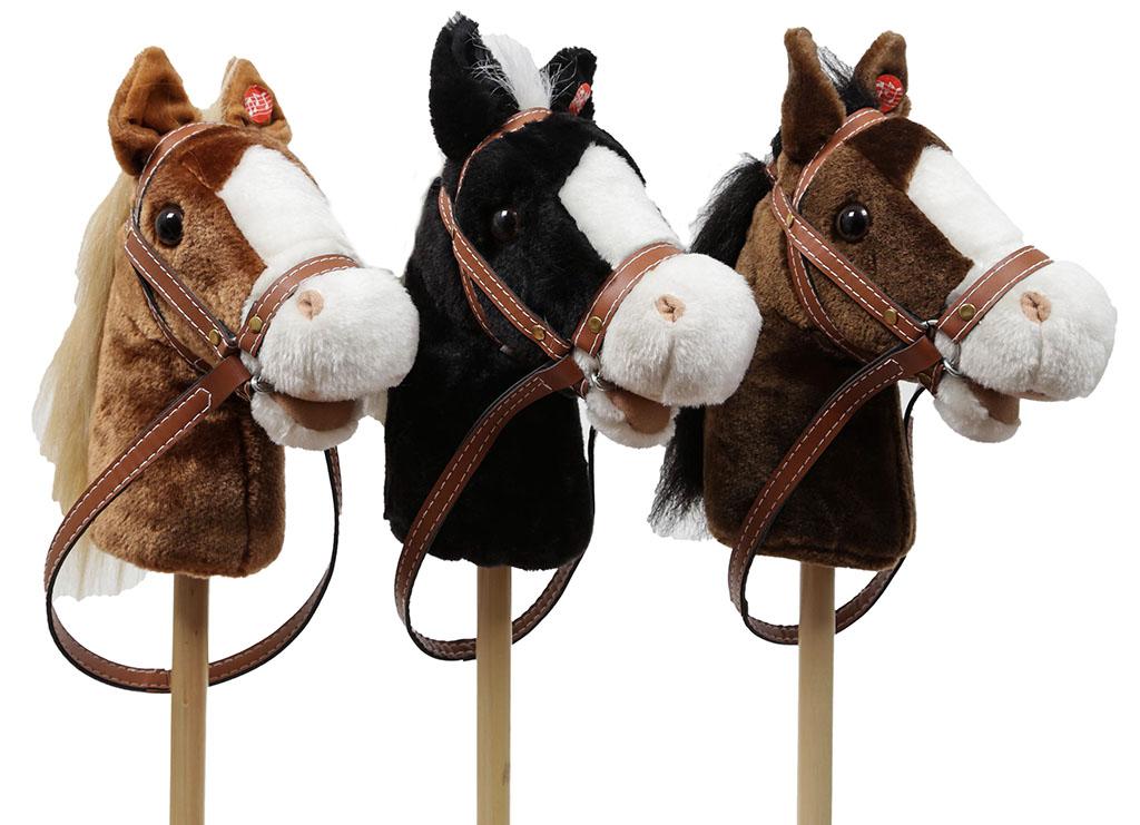 Cavallo con bastone legno e suoni cm. 80