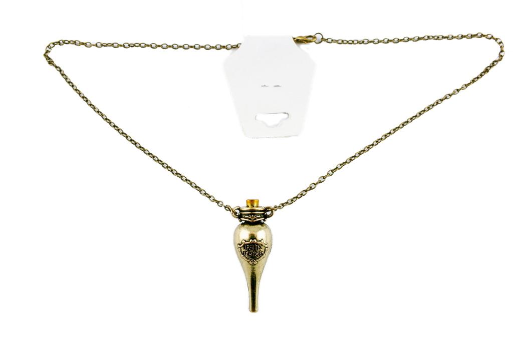 Collana metallo gold ciondolo Felix HP