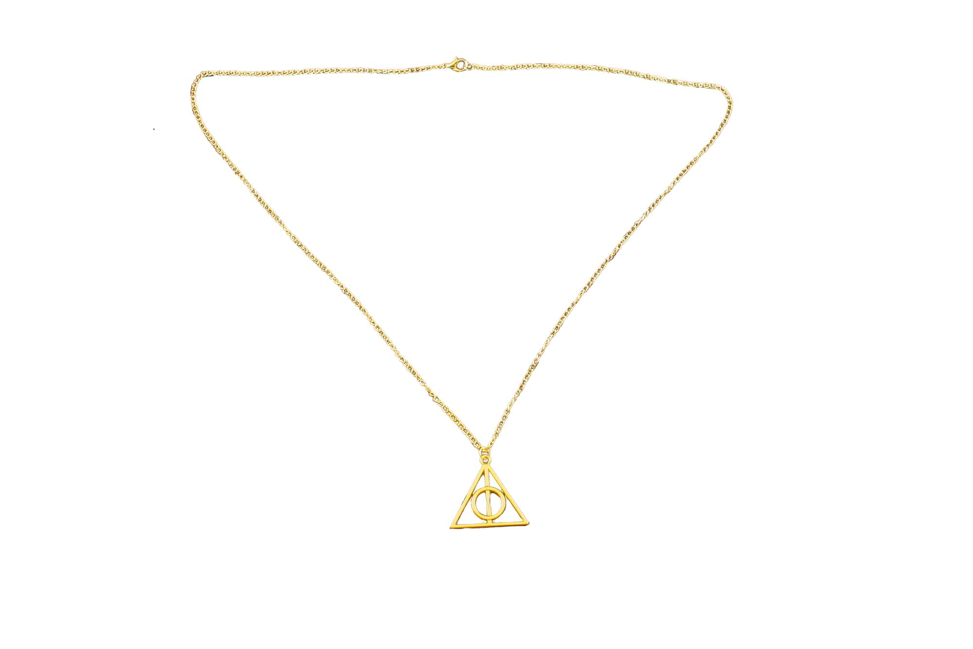 Collana Metallo gold Ciondolo dono della morte