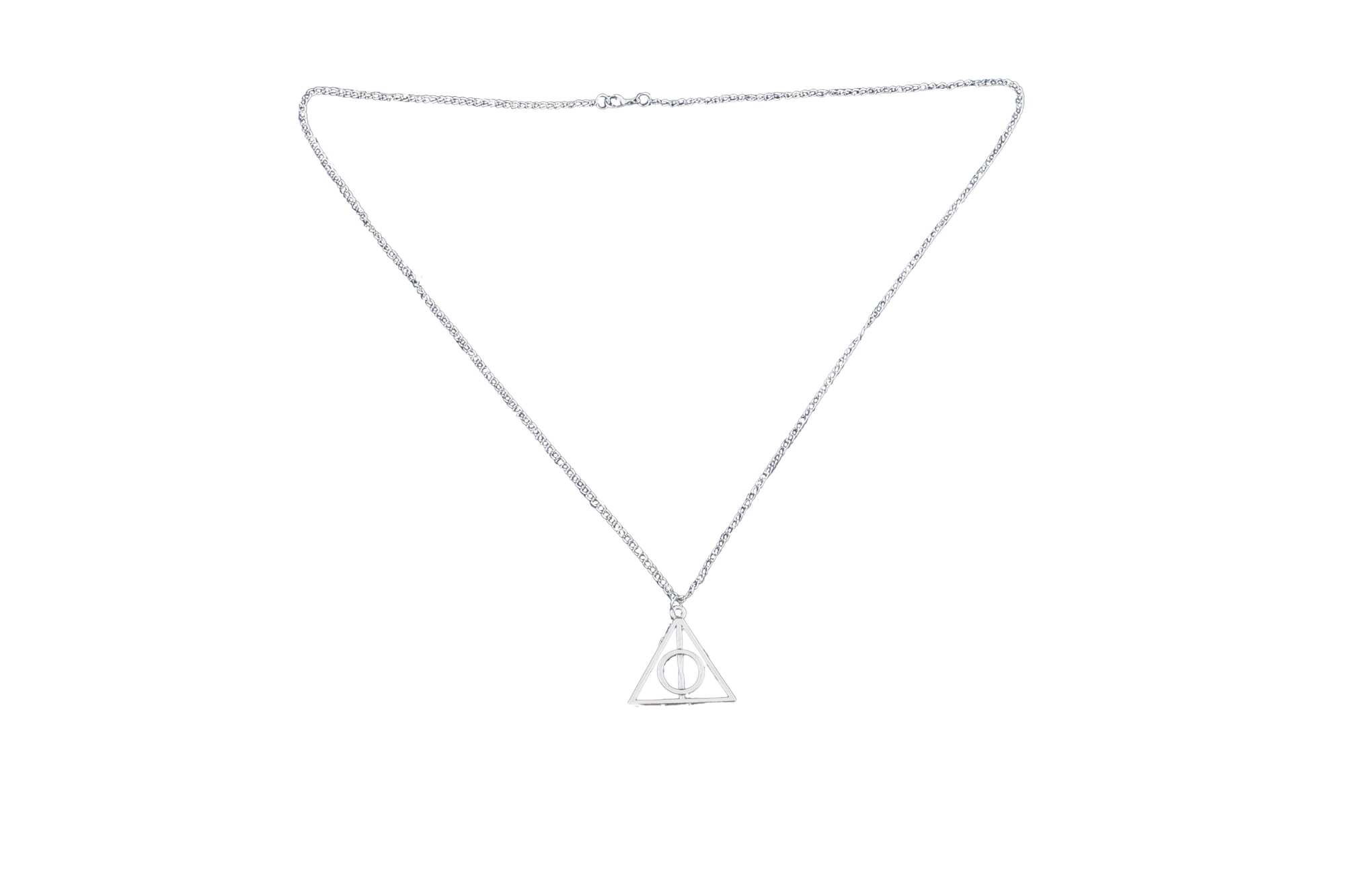Collana Metallo silver Ciondolo dono della morte