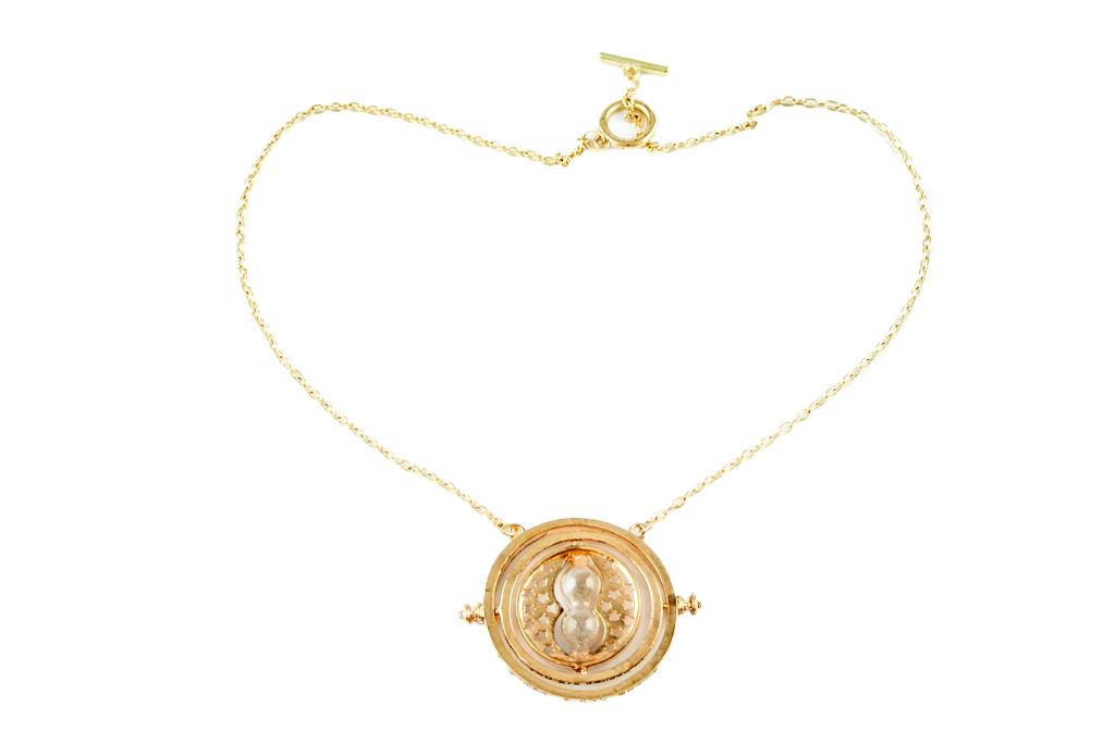 Collana Metallo gold Giratempo HP
