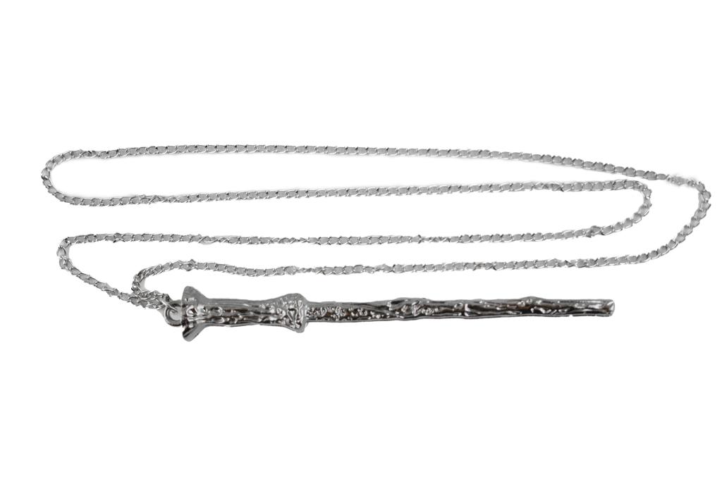 Collana Metallo silver Bacchetta Harry Potter