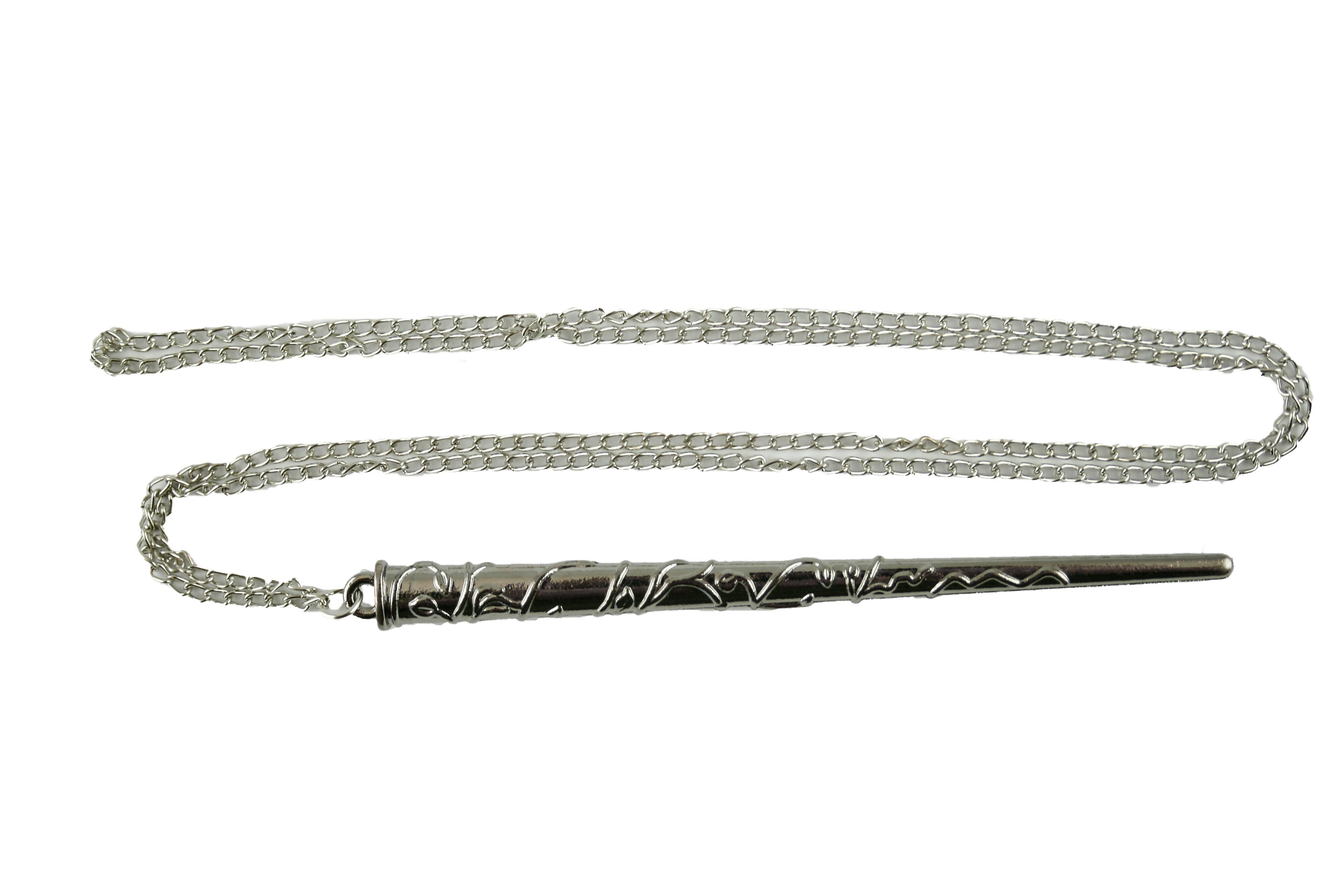 Collana Metallo silver Bacchetta Hermione