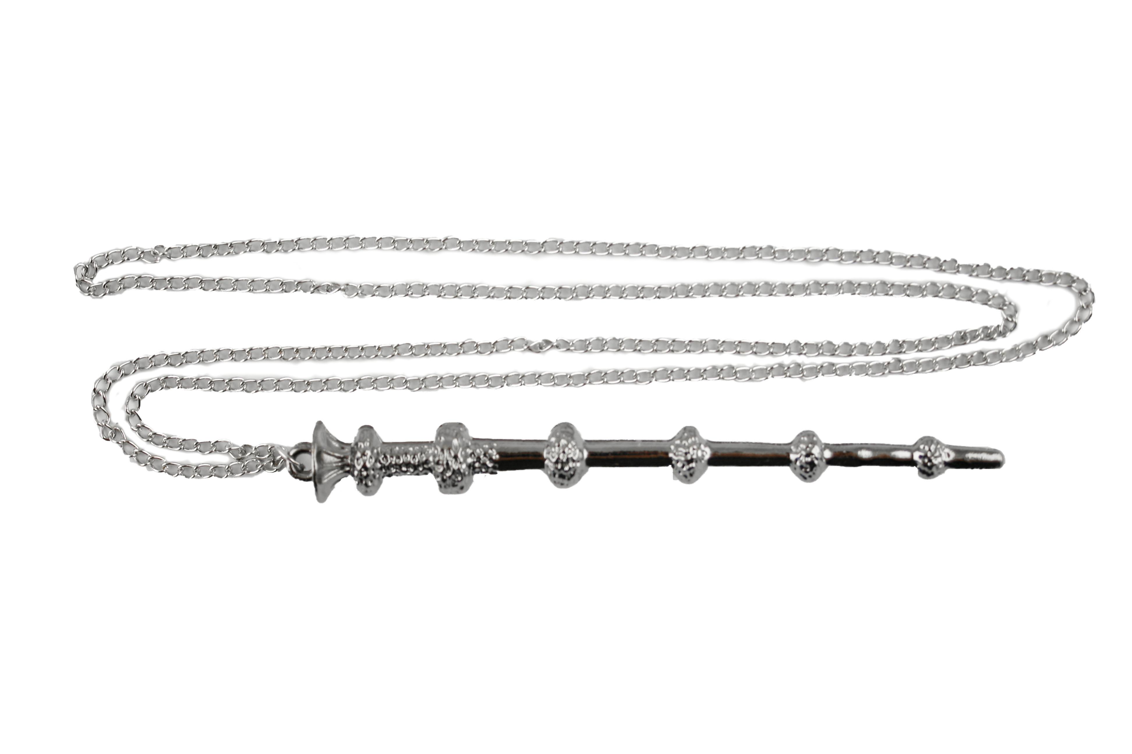 Collana Metallo silver Bacchetta Silente