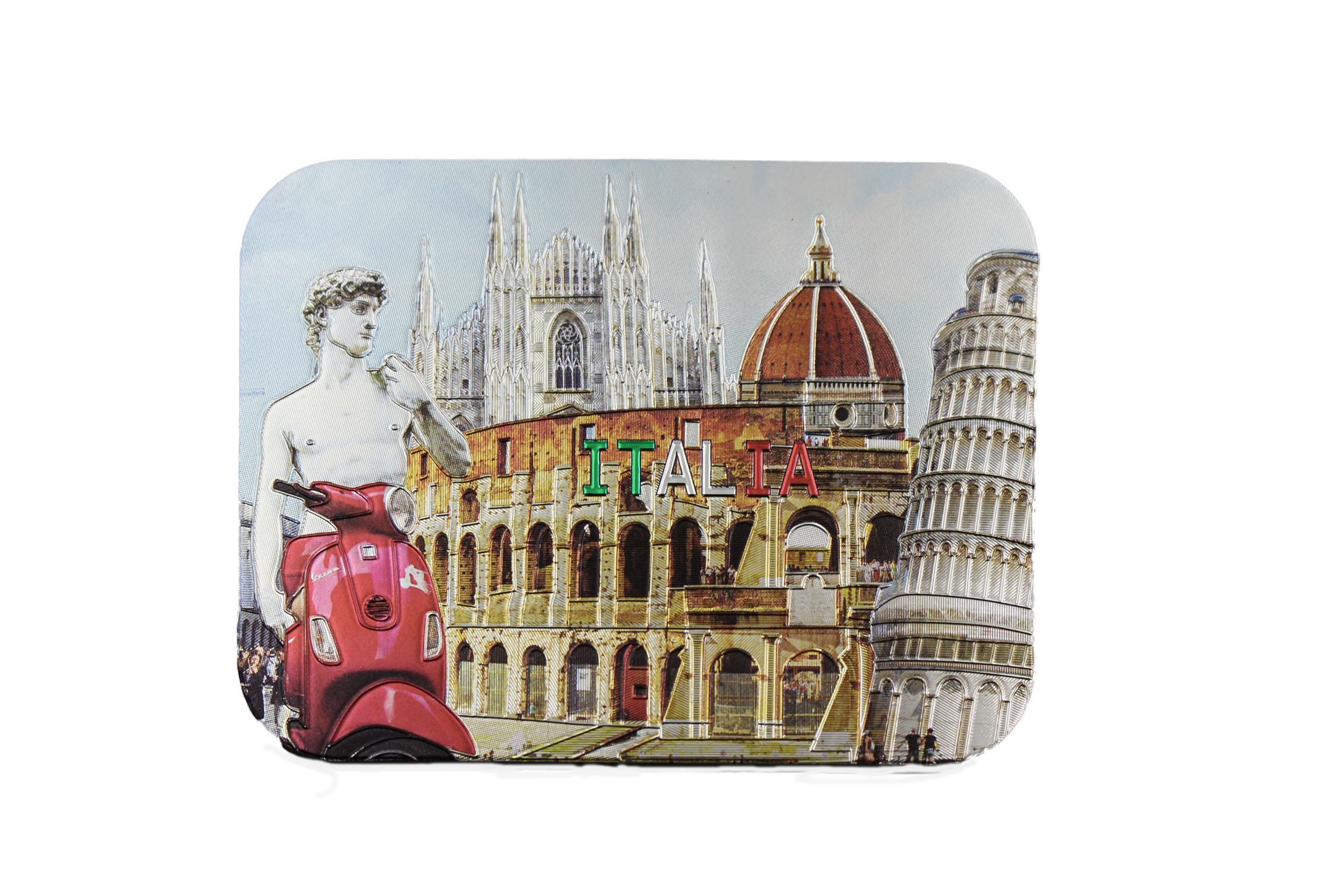 Magneti laminati rettang. cm.8x6  ITALIA Monumenti