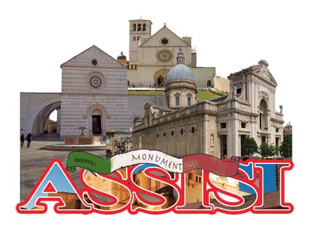 Calamita legno ASSISI Monumenti