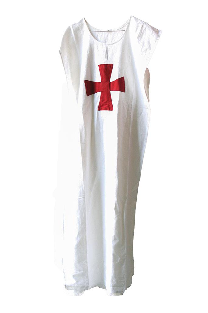 Tunica bianca + croce templare rossa