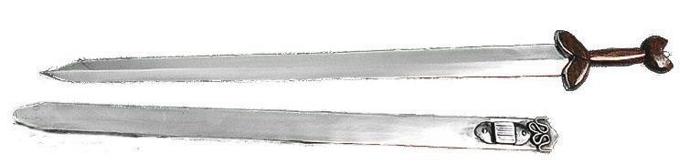 Spada Celtica acciaio lungh. cm. 110