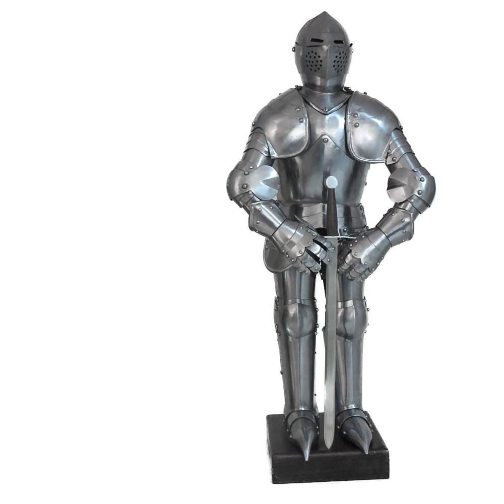 Armatura acciaio c/stand legno H. cm. 75