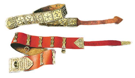 Cinturone Romano pelle + ottone inciso