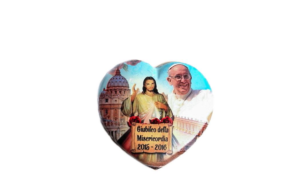Calamita Cuore Papa Francesco Giubileo
