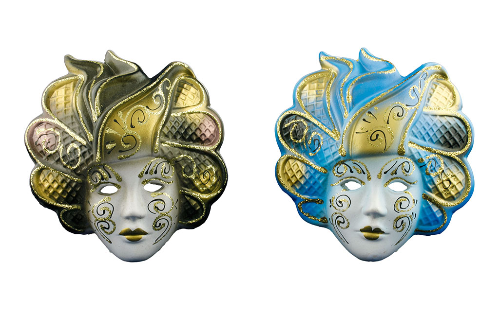 Maschere in Ceramica 6 colori ss.ti
