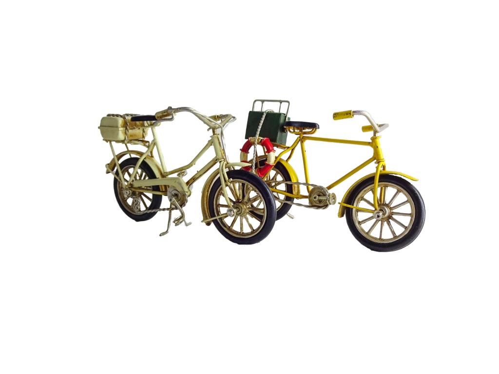 Biciclette metallo set 2 colori cm. 16x5,5x9,5