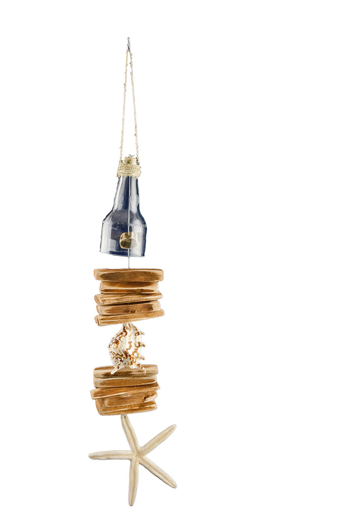 Scacciapensieri legno + conchiglie cm. 50