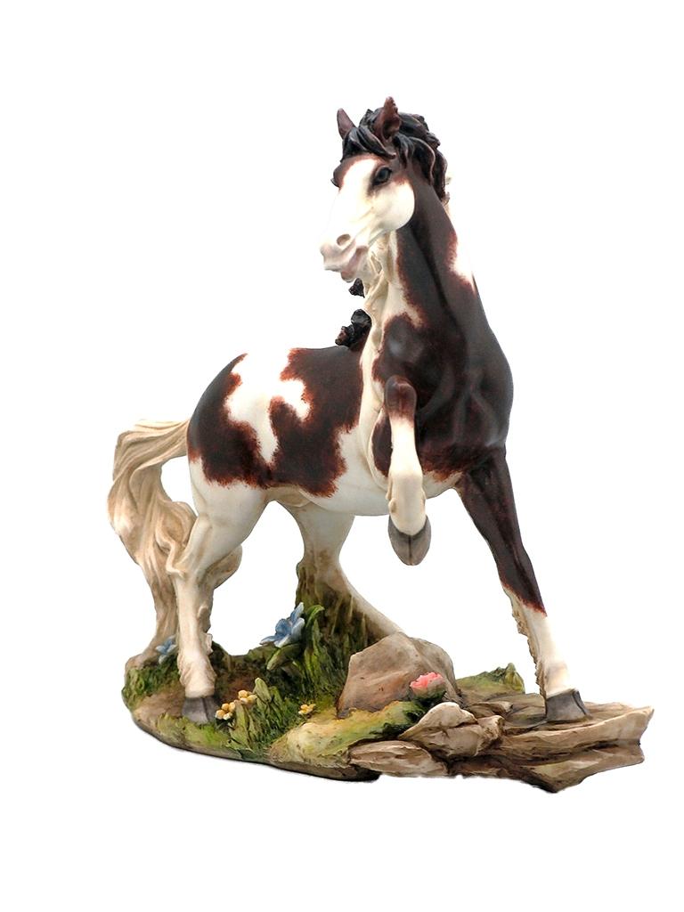 Cavallo marmo resina h cm. 23,5