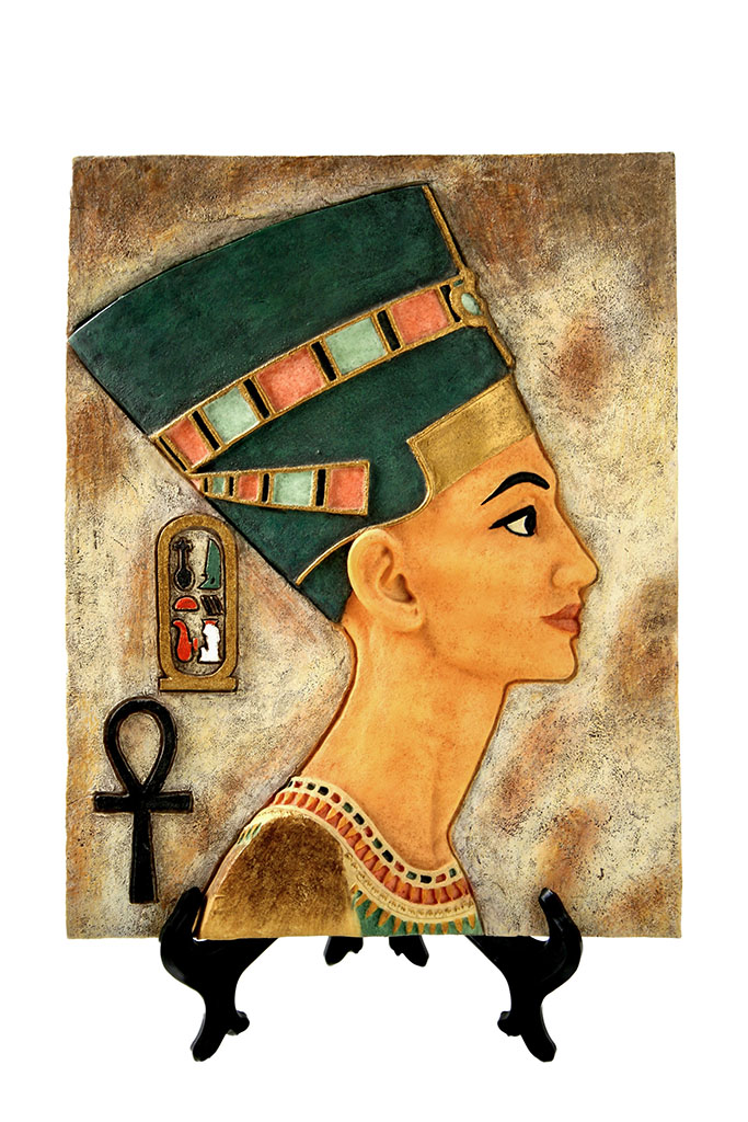 Egizi tavola egizia con  Nefertiti