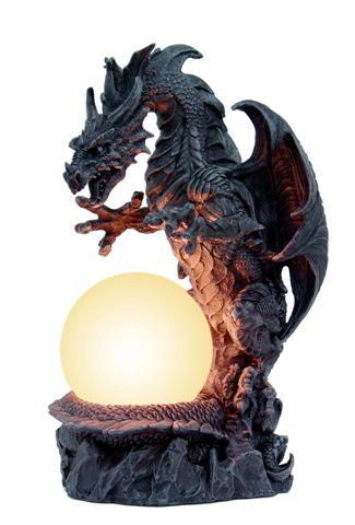 Drago con lampada cm. 30x15