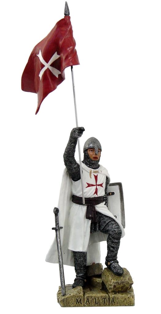 Medievale templare con bandiera H cm. 20
