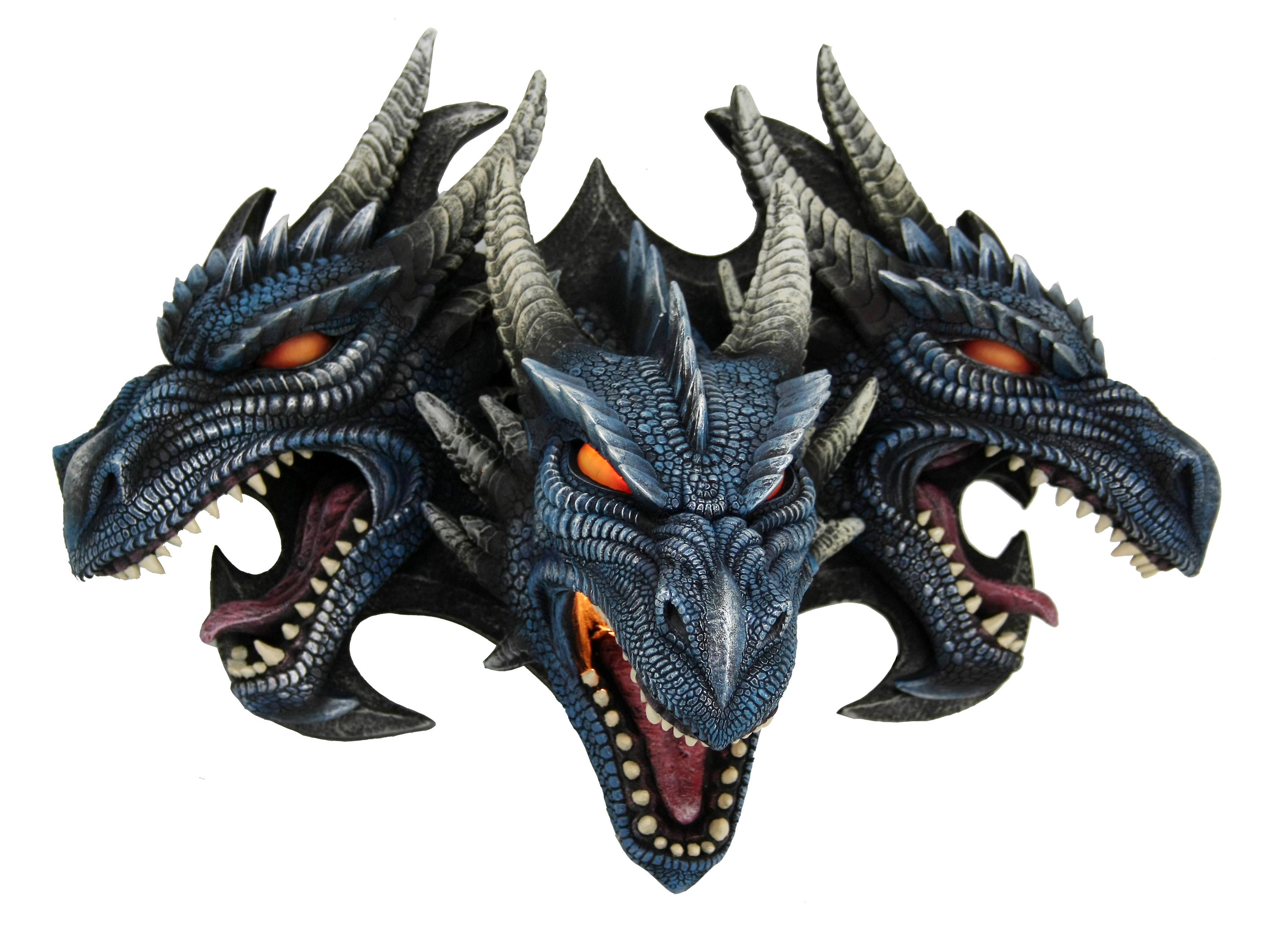 Drago gothic lampada 3 teste colorate