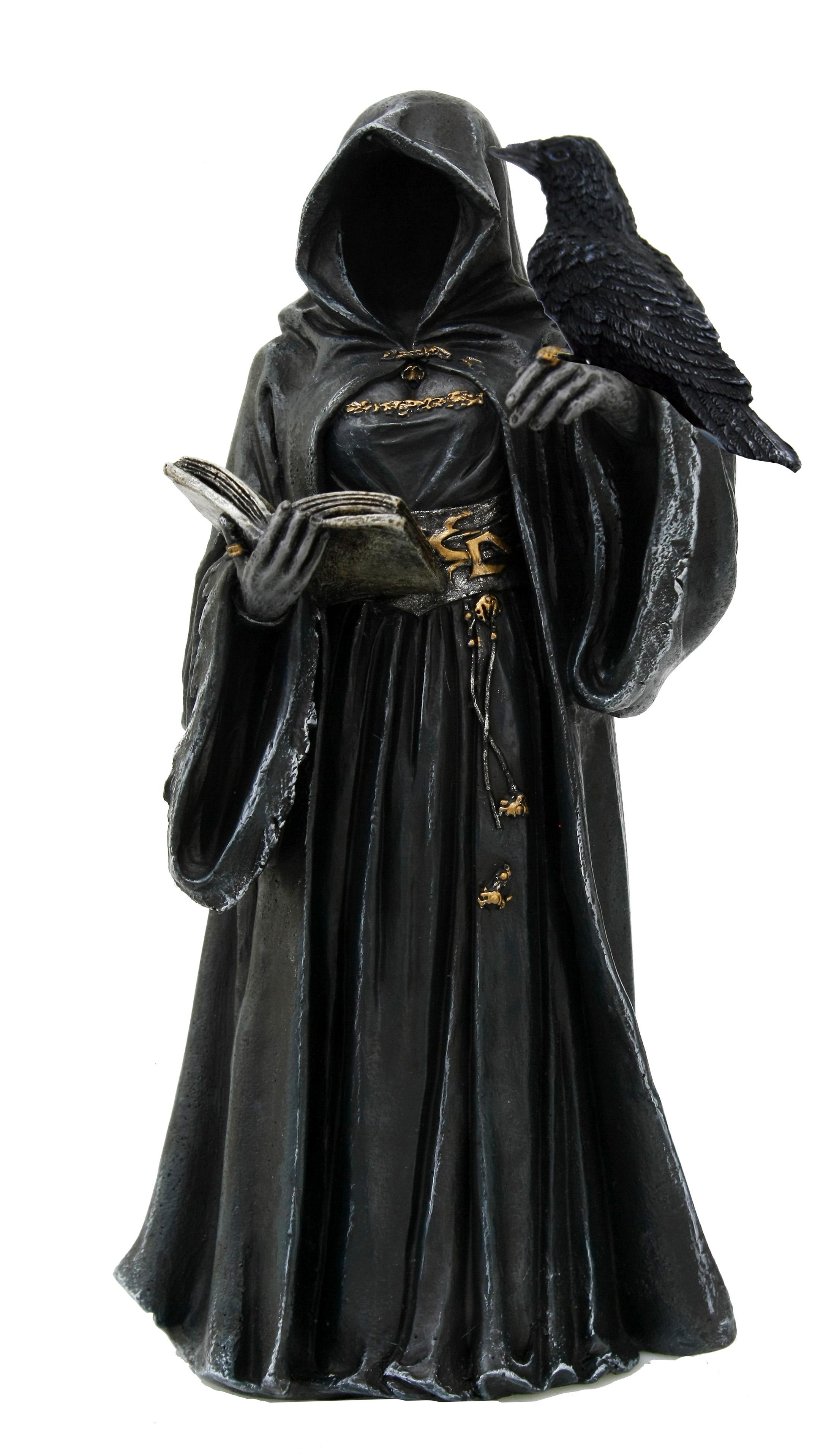 No Face gothic nero con corvo H cm. 20