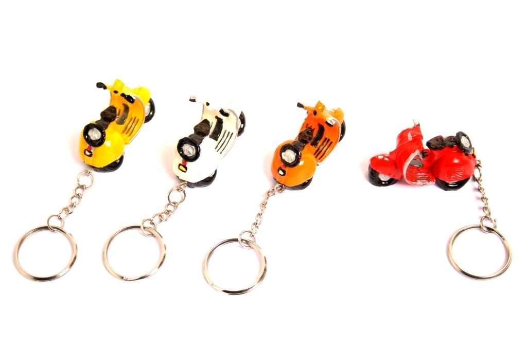 Porta chiavi Vespino resina 4 colori ass.ti cm.5
