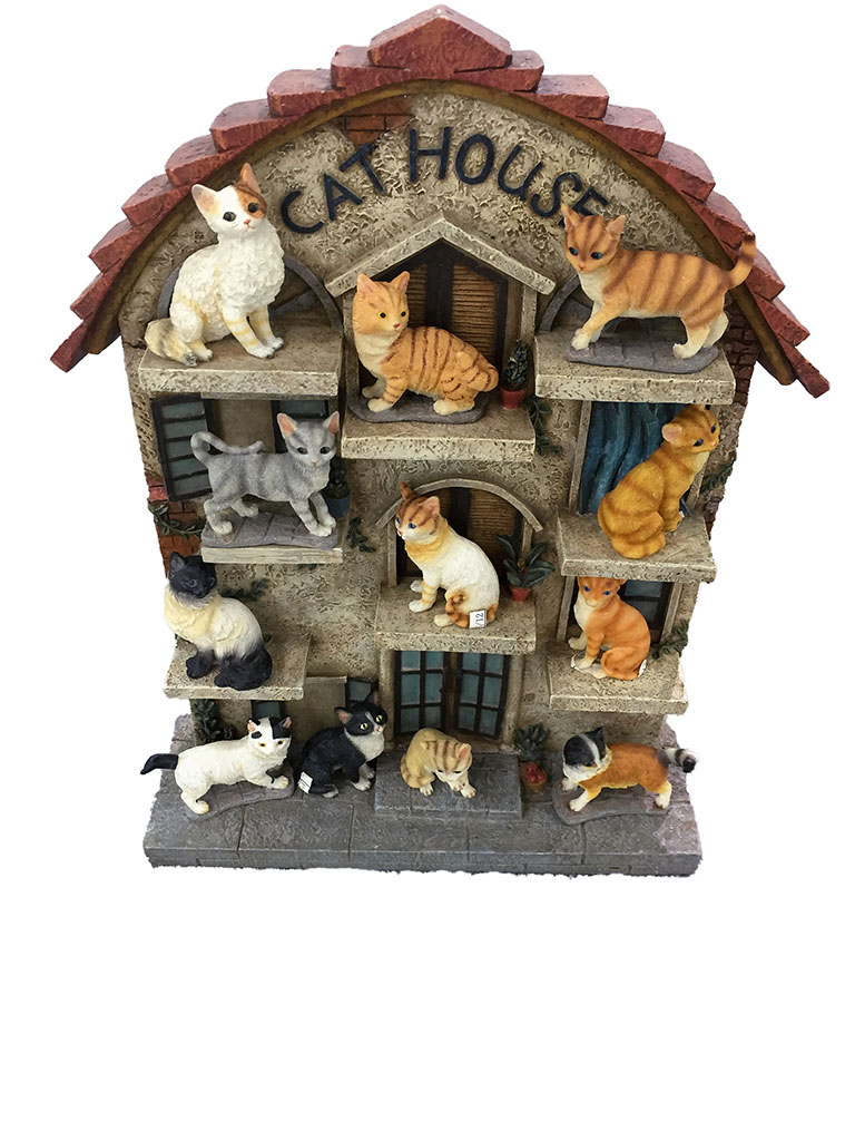 Gattini resina set 72 pezzi + espositore